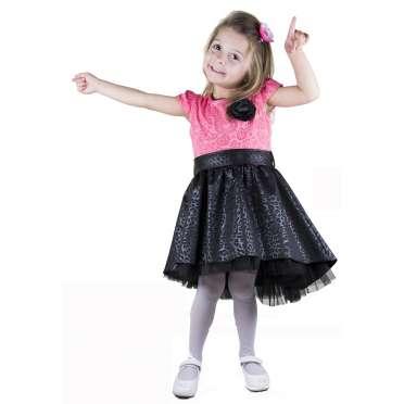 Официална рокля Сани в розово и черно