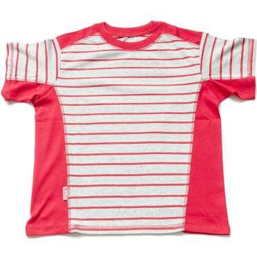 Детска блуза в сиво и червено