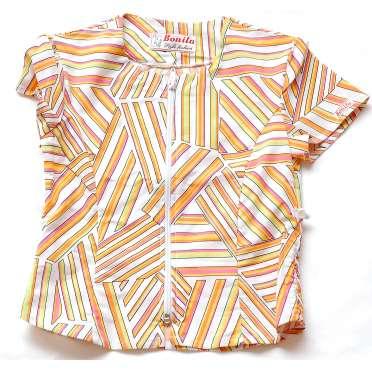 Блуза в райе с цип
