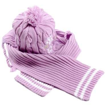 Комплект шапка с шал