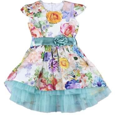 Официална рокля Сани в синьо