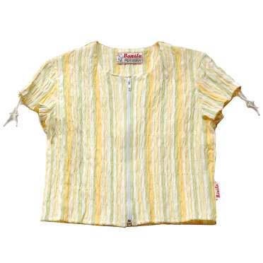 Блуза гофри с цип