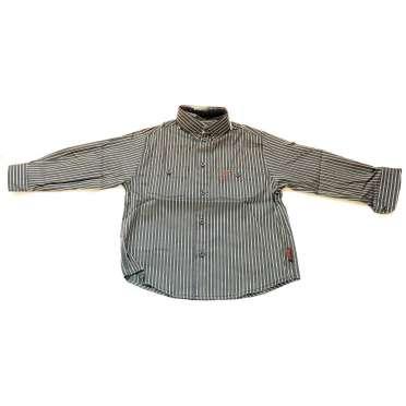 Риза за момче в тъмно синьо и сиво